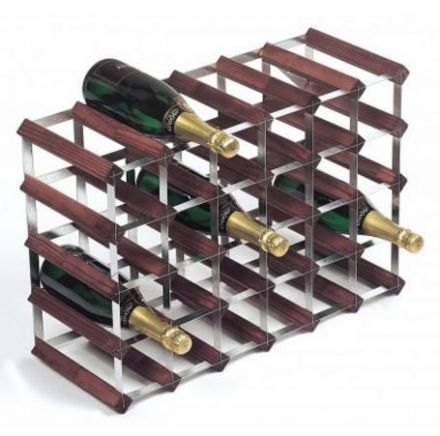 RTA 30 Bottle Assembled Stained Pine Wine Rack WNRK4106
